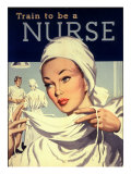 Nurses and Hospitals, UK, 1950 Posters