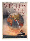 Wireless world, Radios Magazine, UK, 1916 Prints