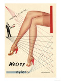 Wolsey Womens Hosiery Stockings Nylons, UK, 1940 Giclee Print