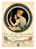 Pampering Make-Up Makeup Gainsborough Face Powder, USA, 1910 Giclee Print