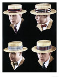 Mens Hats, USA, 1920 Giclee Print