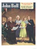 John Bull, Singing, Choirs Practice, the Villages Halls Magazine, UK, 1951 Prints