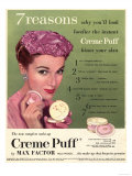 Max Factor, Creme Puff Foundation Powder Make-Up, UK, 1950 Prints