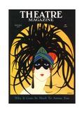 Theatre, Masks Magazine, USA, 1920, på engelsk Giclée-tryk