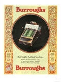 Equipment Burroughs, Adding Machines, Accountants, USA, 1920 Posters