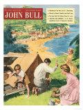 John Bull, Holiday Tents Camping Beaches Seaside Magazine, UK, 1950 Prints