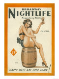 Broadway Nightlife, Glamour Pin-Ups Magazine, USA, 1933 Posters