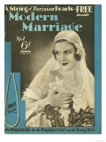 Modern Marriage, Weddings Marriages Brides First Issue Magazine, UK, 1931 Giclee Print