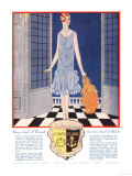 Fabrics, Threads, Womens Art Deco, UK, 1920 Giclee Print