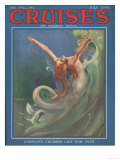 Cruises, Mermaids Magazine, UK, 1930 Posters
