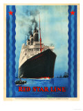 Red Star Lines, Cruise Ships, Ocean Liners, USA, 1930 Prints