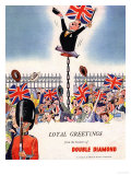 Double Diamond Coronation Union Jack Flags, UK, 1953 Giclee Print