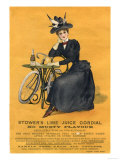 Stowers Lime Juice, Cordial Bicycles, UK, 1890 Giclee Print