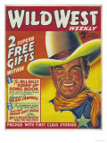 Wild West, Cowboys Westerns Pulp Fiction First Issue Magazine, USA, 1938 Giclee Print