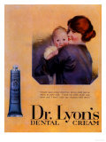 Lyons Toothpaste, Baby, UK, 1900 Giclee Print