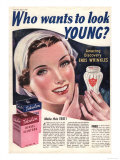 Tokalon, Wrinkles Face Skin Care Creams, UK, 1939 Posters