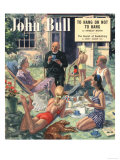 John Bull, Vicars Tea Priests Gardening Picnics Children Magazine, UK, 1949 Prints