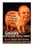 Grove's, Humour Groves Tonic, USA, 1890 Prints