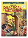 Practical Mechanics, Puppets Shows Magazine, UK, 1950 Giclee Print