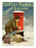 Huntley and Palmers, Biscuits Post Boxes, Snowballs, UK, 1890 Prints