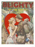 Blighty, First Issue WWI Uniforms Magazine, UK, 1918 Giclee Print