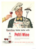 Petri Wine, Cooking BBQ Disasters, USA, 1940 Posters