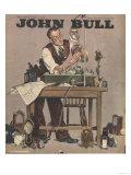 John Bull, Watch Clock Repairing Menders Man Clocks Magazine, UK, 1948 Prints