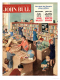 John Bull, Libraries Books Magazine, UK, 1950 Posters