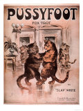 Cats Pussyfoot Fox Trot, USA, 1920 Giclee Print