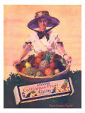 Adams California Fruit Gum, Chewing Gum Sweets Fruit Harvest, USA, 1910 Prints