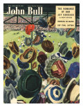 John Bull, Football Hats Magazine, UK, 1950 Prints