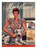 My Home, Housewives and Dogs Magazine, UK, 1947 Giclee Print