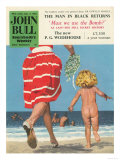 John Bull, Holiday Beaches Seaside Swimming Magazine, UK, 1950 Art