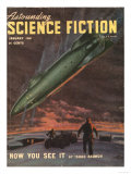 Astounding, Space Ships Aliens, Pulp Fiction, UFOs Magazine, USA, 1940 Art