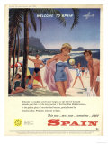 Holiday Costa Del Sol Destinations, UK, 1958 Giclee Print
