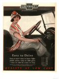 Chevrolet, Women Woman Drivers Driving Cars, USA, 1920 Giclee Print