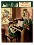 John Bull, Piano Pianos Grand Playing Lessons Games Teachers Magazine, UK, 1951 Giclee Print