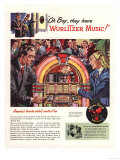 Wurlitzer, Record Players, Juke Boxes, USA, 1946 Giclee Print
