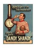 Dandy Shandy Sarsaparilla Rugby Weather, UK, 1920 Prints