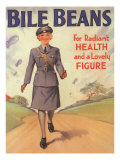 Bile Beans, Uniforms WWII Medical Medicine, UK, 1940 Giclee Print