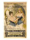 Corsets Girdles Magnetic Harness Underwear, UK, 1890 Posters