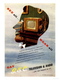 Televisions Gec Marconi, UK, 1940 Art