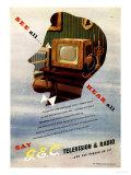 Televisions Gec Marconi, UK, 1940 Art