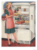 Hotpoint, Women in the Kitchen, Refrigerators, USA, 1940 Art