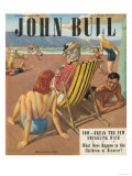 John Bull, Holiday Beaches Seaside Deck Chairs Magazine, UK, 1947 Giclee Print