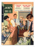 John Bull, Washing Up Dishes Magazine, UK, 1956 Giclee Print