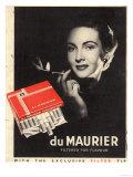 Du Maurier, Cigarettes Smoking Glamour, UK, 1950 Giclee Print