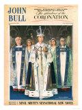 John Bull, Coronation Queen Elizabeth Womens, UK, 1953 Prints