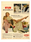 Nylon by DuPont, Nylons Stockings Hosiery, USA, 1940 Prints
