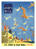 John Bull, Holiday Beaches Seagulls Magazine, UK, 1953 Prints